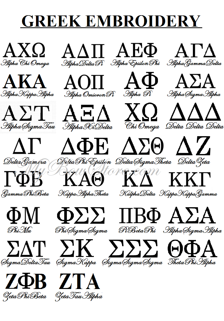 Symbols For Sorority